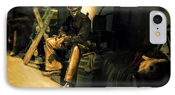 The Golden Cowboy IPhone Case by Diane Dugas