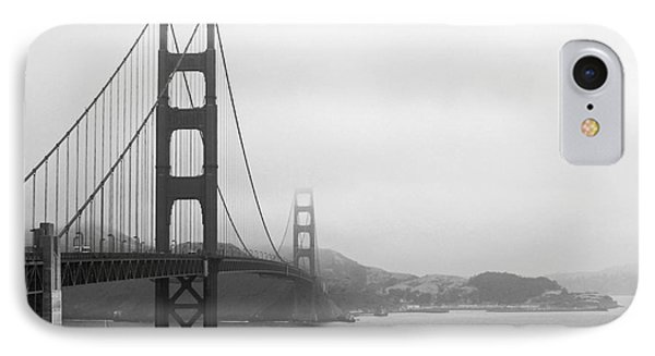 The Golden Gate Bridge In Classic B W IPhone Case by Connie Fox
