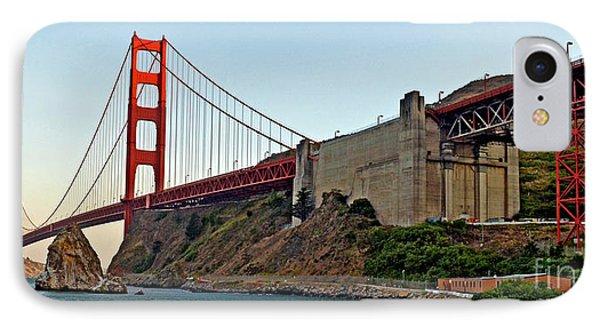 The Golden Gate Bridge  Phone Case by Jim Fitzpatrick
