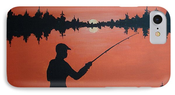 IPhone Case featuring the painting The Golden Hour by Norm Starks