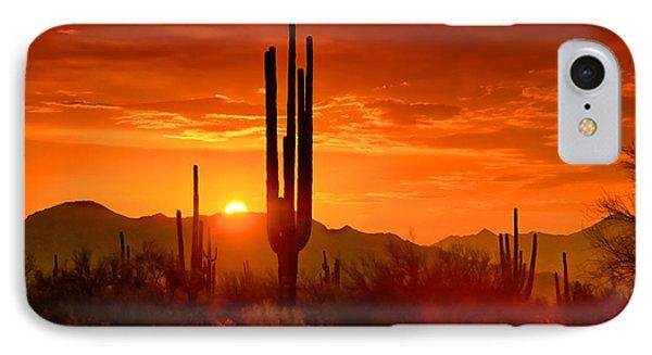 The Golden Southwest Skies  Phone Case by Saija  Lehtonen