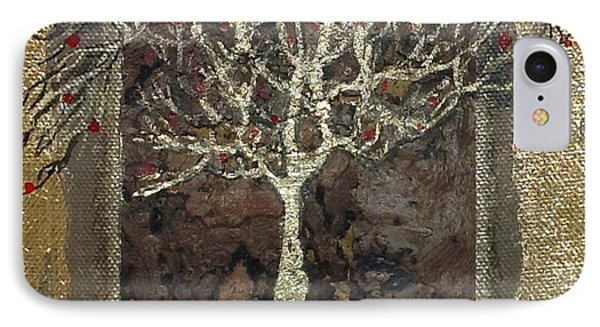 The Golden Tree  IPhone Case by Delona Seserman