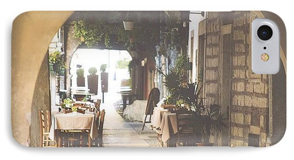 The Good Life  #italy #summer #dine IPhone Case by A Rey