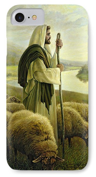 IPhone Case featuring the painting The Good Shepherd by Greg Olsen