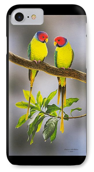 The Gorgeous Guys - Plum-headed Parakeets IPhone Case by Frances McMahon