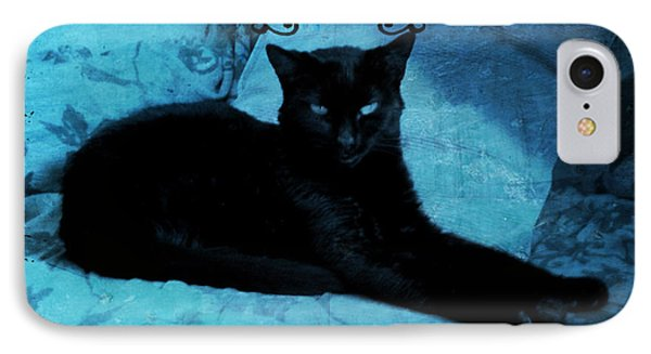 The Gothic Cat IPhone Case by Absinthe Art By Michelle LeAnn Scott