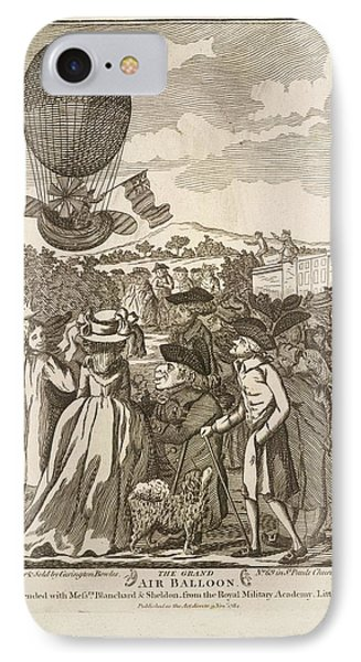 The Grand Air Balloon IPhone Case by British Library