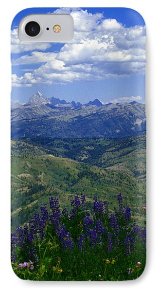 IPhone Case featuring the photograph The Grand And Lupines by Raymond Salani III