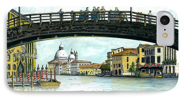 IPhone Case featuring the painting The Grand Canal Venice Italy by Albert Puskaric