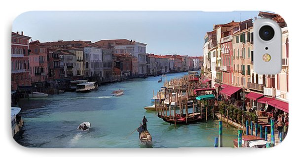 The Grand Canal Venice Oil Effect Phone Case by Tom Prendergast