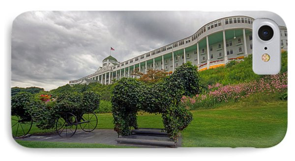 The Grand Hotel Mackinac Island IPhone Case by Jerry Gammon