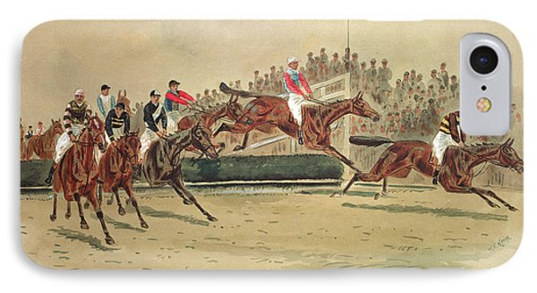 The Grand National Over The Water IPhone Case by William Verner Longe