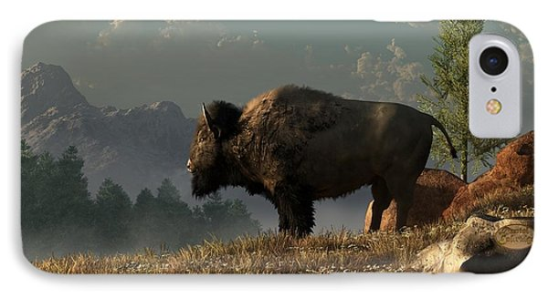 The Great American Bison IPhone Case by Daniel Eskridge