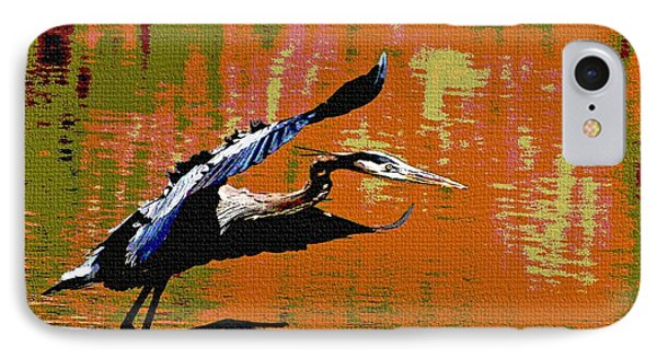 The Great Blue Heron Jumps To Flight IPhone Case by Tom Janca