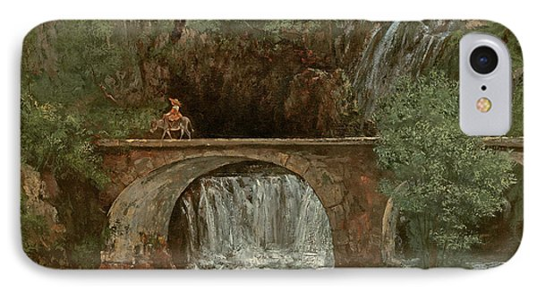 The Great Bridge, 1864 IPhone Case by Gustave Courbet