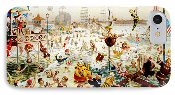 The Great Coney Island Water Carnival Phone Case by Georgia Fowler