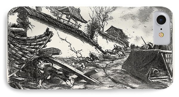 The Great Earthquake In Japan, Views At The Scenes IPhone Case by Japanese School