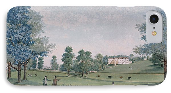 The Great House And Park At Chawton IPhone Case by Adam Callander