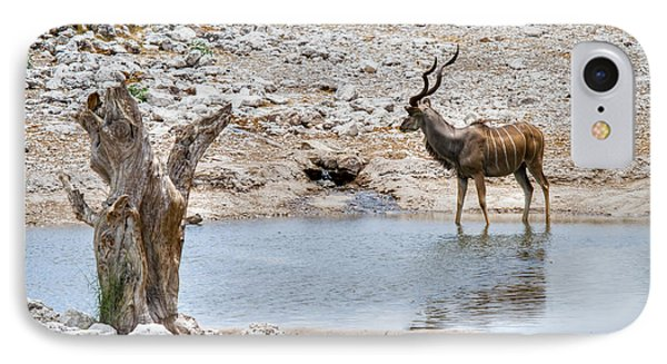 IPhone Case featuring the photograph The Great Kudu  by Juergen Klust