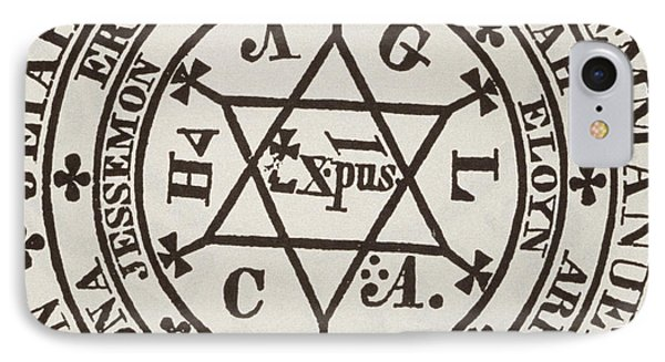 The Great Magic Circle Of Agrippa For The Evocation Of Demons IPhone Case