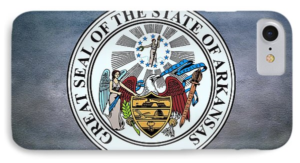 The Great Seal Of The State Of Arkansas IPhone Case by Movie Poster Prints