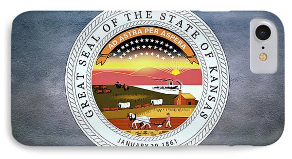 The Great Seal Of The State Of Kansas  Phone Case by Movie Poster Prints
