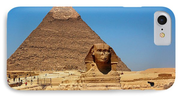 IPhone Case featuring the photograph The Great Sphinx Of Giza And Pyramid Of Khafre by Joe  Ng