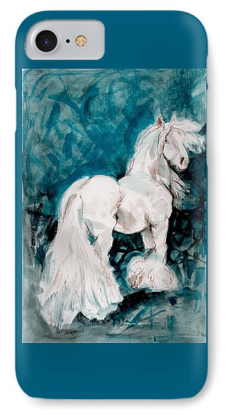 IPhone Case featuring the painting The Great White by Mary Armstrong