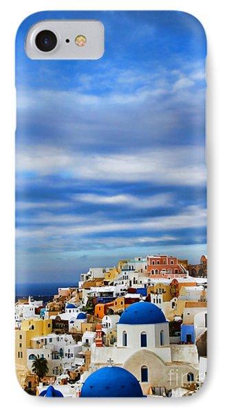 The Greek Isles-oia Phone Case by Tom Prendergast