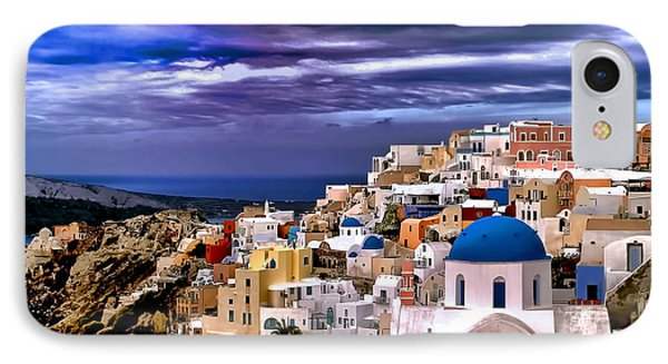 The Greek Isles Santorini IPhone Case by Tom Prendergast