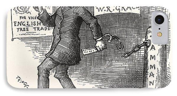 The Greek Slave Emancipates Oill Vote Aginst Tariff IPhone Case by American School