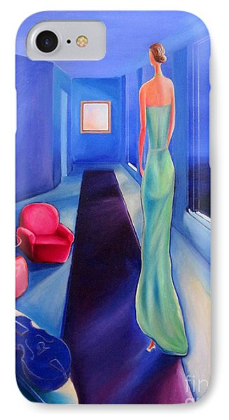 The Green Dress Phone Case by Frederick  Luff
