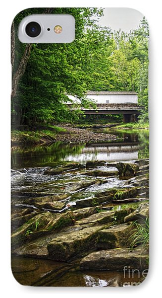 IPhone Case featuring the photograph The Green Sergeants Covered Bridge II by Debra Fedchin