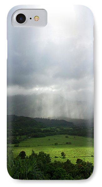 The Green Valley Surrounding Hanalei IPhone Case by David R. Frazier