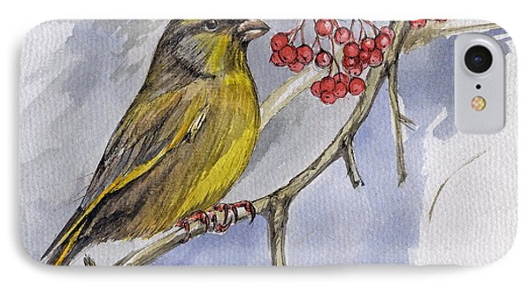 The Greenfinch Phone Case by Angel  Tarantella