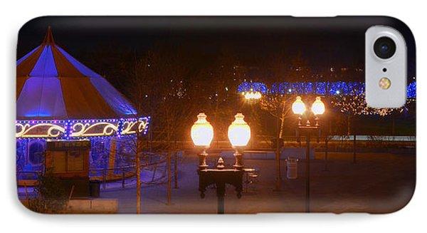 The Greenway Carousel - Boston IPhone Case by Joann Vitali