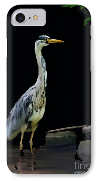 The Grey Heron IPhone Case