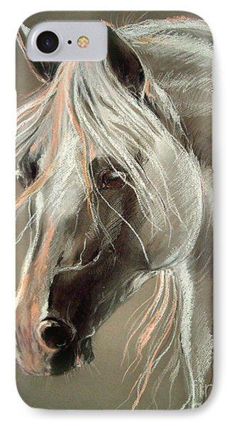 The Grey Horse Soft Pastel Phone Case by Angel  Tarantella