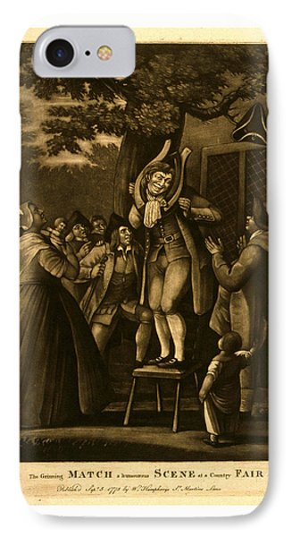 The Grinning Match, A Humourous Scene At A Country Fair IPhone Case