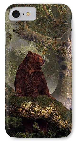 The Grizzly's Forest Phone Case by Daniel Eskridge