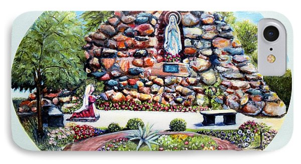 IPhone Case featuring the painting The Grotto by Bernadette Krupa