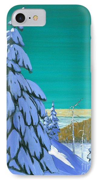 Blue Mountain High IPhone Case by Michael Swanson