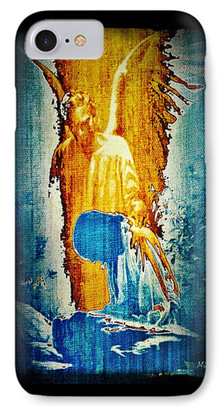 The Guardian Angel IPhone Case by Absinthe Art By Michelle LeAnn Scott