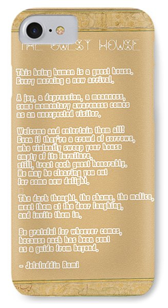 The Guest House Poem By Rumi IPhone Case