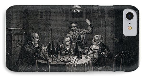 The Guests, 1864, Food And Drink, Table, Bottle, Bottles IPhone Case by English School