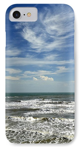 The Gulf Of Mexico From Galveston IPhone Case by Allen Sheffield