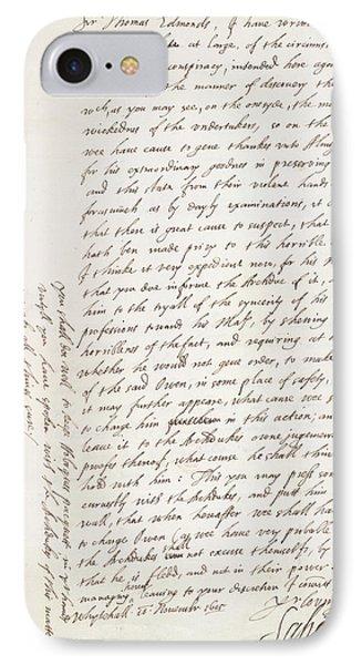 The Gunpowder Plot IPhone Case by British Library