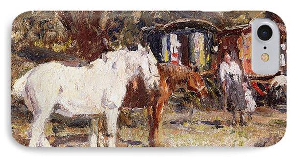 The Gypsy Encampment Phone Case by Harry Fidler