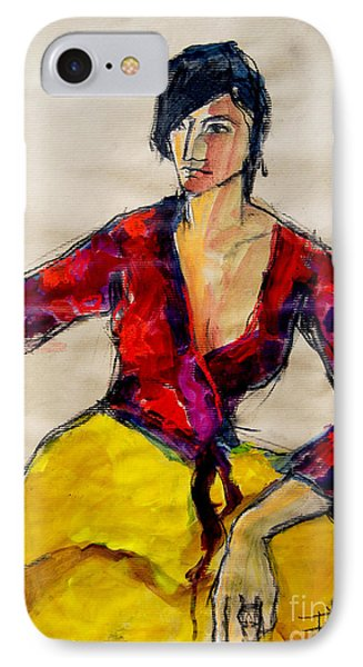The Gypsy - Pia #2 - Figure Series IPhone Case by Mona Edulesco