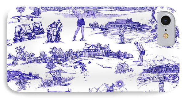 The Hamptons Historical Golf Courses IPhone 7 Case by Kimberly McSparran